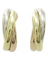 Cartier - Trinity Yellow Gold Earrings - Lyst
