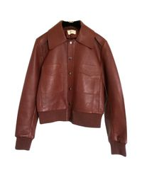 Ba&sh - Brown Leather Jacket - Lyst