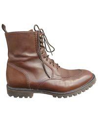 The Kooples - Brown Boots en cuir for Men - Lyst