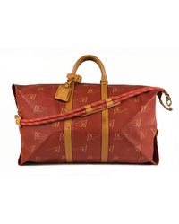 Louis Vuitton - Red Keepall Cloth Weekend Bag for Men - Lyst