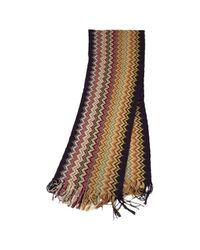 Missoni - Brown Wool Scarf - Lyst