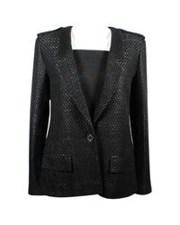Chanel - Pre-owned Black Cotton Jacket - Lyst