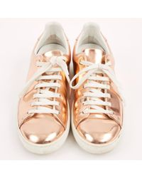 Louis Vuitton - Pink Pre-owned Patent Leather Trainers - Lyst