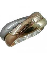 Cartier - Metallic Trinity Yellow Gold Ring - Lyst