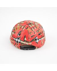 Burberry - Red Multicolour Cloth Hats - Lyst