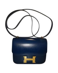 Hermès - Blue Pre-owned Constance Leather Handbag - Lyst