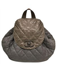Lyst - Chanel Leather Backpack in Gray f6ce70884a70d