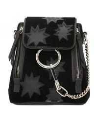 Chloé - Black Faye Leather Backpack - Lyst