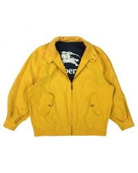 Burberry - Yellow Pre-owned Jacket for Men - Lyst