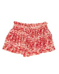 Étoile Isabel Marant - Red Pre-owned Silk Mini Short - Lyst