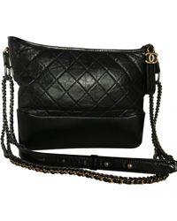 bd2f84a6eee8 Chanel Gabrielle Leather Crossbody Bag in Black - Lyst