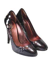 Miu Miu - Black Glitter Heels - Lyst