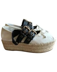 Miu Miu - White Leather Ballet Flats - Lyst