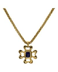 Chanel | Metallic Pre-owned Necklace | Lyst