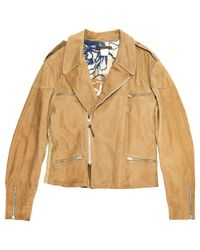 Roberto Cavalli - Natural Pre-owned Camel Leather Jackets for Men - Lyst