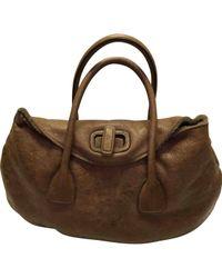 Jil Sander - Brown Leather Handbag - Lyst