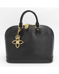 Louis Vuitton - Black Pre-owned Alma Leather Handbag - Lyst
