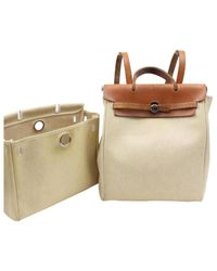 Hermès - Natural Pre-owned Herbag Backpack - Lyst