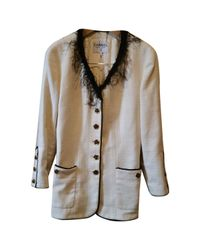 Chanel - Multicolor Vintage Ecru Cotton Jacket - Lyst