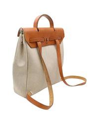 Hermès - Natural Pre-owned Herbag Cloth Backpack - Lyst