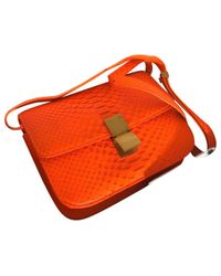 Céline - Orange Pre-owned Classic Python Handbag - Lyst