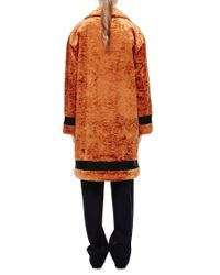 Victoria Beckham - Orange Oversized Coat - Lyst