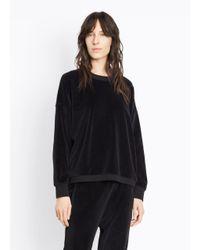 Vince - Black Velour Pullover - Lyst