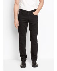 Vince - Black Stretch Twill Trouser for Men - Lyst