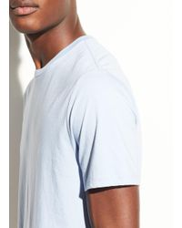 Vince Blue Crew Pima Cotton T-shirt for men