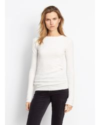 Vince - White Longsleeve Thermal Crew - Lyst