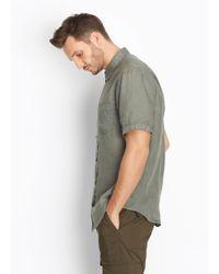 Vince | Green Linen Short Sleeve Button Up for Men | Lyst