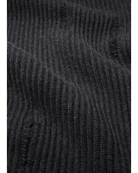 Vince - Gray Distressed Ribbed Scarf for Men - Lyst