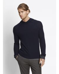 VINCE | Blue Double Layer Hoodie for Men | Lyst
