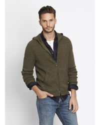 Vince | Green Modern Military Thermal Zip-up Hoodie for Men | Lyst