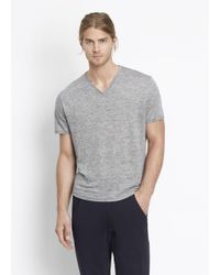 Vince | Gray Raw Edge Tee for Men | Lyst