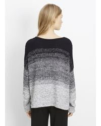 VINCE | White Marled Ombré Textured Pullover Sweater | Lyst