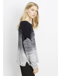 Vince - Black Marled Ombré Textured Pullover Sweater - Lyst