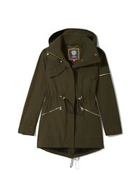 Vince Camuto - Green Hooded Anorak - Lyst