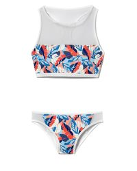 Vince Camuto - Multicolor Mesh-detail Printed Bikini Bottoms - Lyst