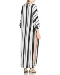 Vince Camuto | Black Striped Caftan Cover-up | Lyst