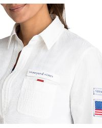 Vineyard Vines - White Usa Harbor Shirt Cover-up - Lyst