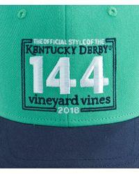 Vineyard Vines - Green Kentucky Derby 144 Stamp Trucker Hat for Men - Lyst
