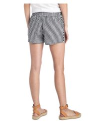 Vineyard Vines - Black Mixed Gingham Embroidered Pull On Shorts - Lyst