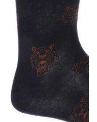 KENZO - Blue Tiger Head Socks for Men - Lyst