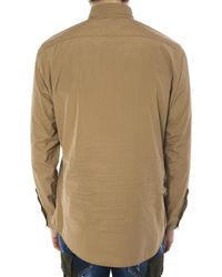 DSquared² - Brown Patched Shirt for Men - Lyst