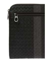 Bottega Veneta Black Leather Briefcase for men