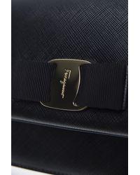 Ferragamo - Black 'ginny' Shoulder Bag - Lyst