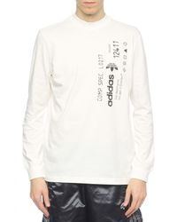 Alexander Wang - White T-shirt With Long Sleeves for Men - Lyst