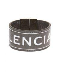 Balenciaga - Gray Logo-embossed Bracelet - Lyst