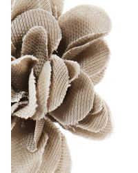 Lanvin - Brown Flower-shaped Pin - Lyst